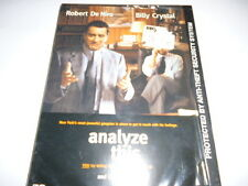 H24 NEW DVD- ANALYZE THIS- ROBERT DE NIRO/BILLY CRYSTAL  - SEALED