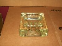 VINTAGE 1960's BLENKO ART GLASS THOMPSON OF TAMPA CIGAR/PIPE ASHTRAY / MCM DECOR