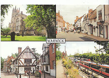 Warwickshire Postcard - Views of Warwick   AB1757