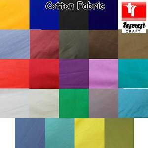 Plain COTTON Fabric Cloth Tablecloth Cover Dressmaking Sewing Lining Poplin