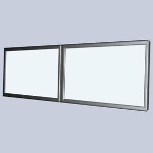 Klapprahmen LED Premium Leuchtkasten mit 2 Fenster - 3000 x 600 mm Wechselrahmen