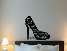 Marilyn Monroe Quote Wall Decal Give Girl Right Shoes Vinyl Sticker Poster 583