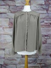 JAEGER women's grey silk blouse size 12