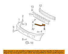 TOYOTA OEM 01-07 Highlander Front Bumper-Side Support Bracket Left 5206248010