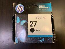 HP 27 Ink Cartridge Black OEM NEW IN BOX