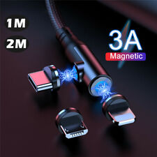 3 in 1 Magnetic Fast Charging Data Charger Cable For Apple Type C Micro USB Lead