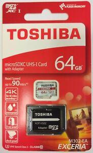 Toshiba 64 GB EXCERIA M302 Micro SDXC Card U3  (THN-M302R0640EA)