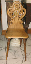 BLACK FOREST HAND CARVED ANTIQUE CHAIR ca. 1900s