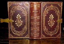 1851 BOOK COMMON PRAYER Psalms FINE BINDING Ornate VICTORIAN Hymnal PROTESTANT
