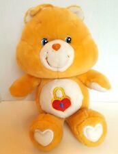 "Care Bear Carlton Cards Secret Heart Lock Golden Yellow 16"" Plush Stuffed Animal"