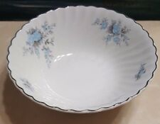 Johnson Bros England Snowhite Regency Casserole Vegetable Bowl Blue Floral