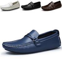 New Men's Genuine Leather Casual Shoes Driving Moccasin Slip On Loafers Shoes