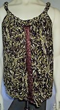 Camouflage Tank Top Sequined Plus Size 0X NWT Lined Portobel Lo Road Summer