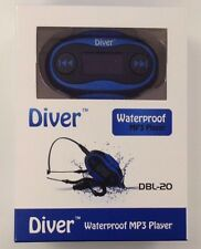 Waterproof MP3 Player. Swim. LCD. FM Radio. USB IPX8 4GB Blue. Used.