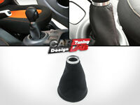 Leather lever Gaiter Gear Boot Shift Shifter Knob Cover For 14-up Smart 453