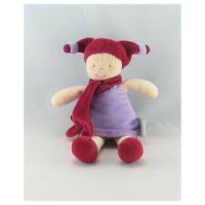 Doudou et Compagnie poupée lutin fille violet mauve rouge - Poupée - Lutin Class