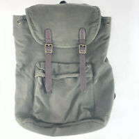 Goodfellow Canvas Flip Top Backpack Magnetic Clasp Front Army Green