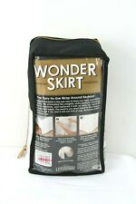 Wonder Skirt The Easy-to-Use Wrap Around Bedskirt in White - Queen Size