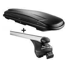 Skibox schwarz VDP JUXT400 lit + Relingträger Alu Seat Alhambra III ab 2010 bis