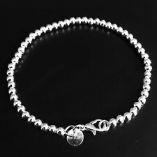 Beads Bangle Chain Women 925 Sterling Silver Charm Bracelet