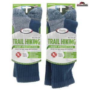 (2) Women's Trail Hiking Crew Socks Medium Blue ~ NEW
