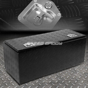 """42""""X18""""X16"""" BLACK ALUMINUM PICKUP TRUCK TRUNK BED TOOL BOX TRAILER STORAGE+LOCK"""
