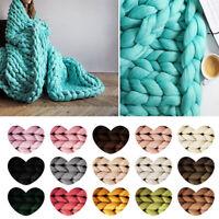 DIY Chunky Wool Yarn Super Bulky Arm Knitting Wool Sweater Crocheting Hat Scarf