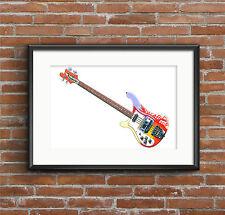 Paul McCartney's 1964 Rickenbacker 4001S Bass - POSTER PRINT A1 size