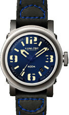 Lum-Tec Watch ABYSS 400M -400M-2 (42mm) Automatic Mens Black Strap & Blue Stitch
