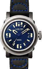 Lum-Tec Watch ABYSS 400M -400M-2 (42mm) Automatic Mens Black Strap & Blue Stitch