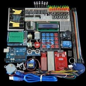 Starter Kit for arduino Uno R3 - Breadboard and holder Step Motor/Servo/1602 LCD