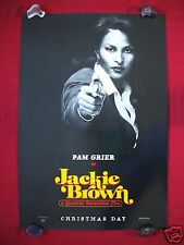 JACKIE BROWN * 1997 ORIGINAL MOVIE POSTER D/S TEASER PAM GRIER FOXY BROWN COFFY