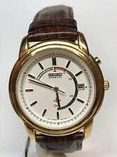 Orologio Seiko Kinetic Vintage Acciaio Placcato/Pelle 40mm Scontatissimo Nuovo