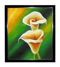 CALLA LILY FLOWERS OIL PAINTING
