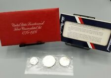 "1976 US Mint Bicentennial Silver Uncirculated ""red pack"" coin set."