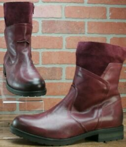 Womens Umberto Raffini Uma Boots Short Red Boots Leather/Suede EUR 39/US 8.5 M