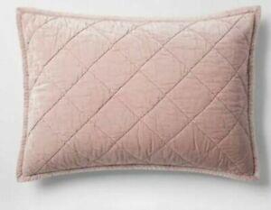 Fieldcrest Velvet Pillow Sham KING Pink New