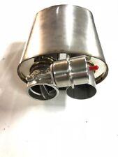 """COPERCHIO MARMITTA VALVOLA DI SCARICO 2,5 """" 63,5mm acciaio inox ovale R con"""