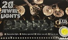20 LED Jewel Diamond String Lights - Battery Operated - Indoor Use