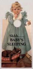 Door Knob Note Hanger Victorian Card Shhhhh  Baby is Sleeping Nursery Sign