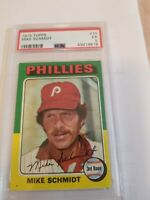 1975 Topps #70 Mike Schmidt Philadelphia Phillies HOF PSA 5 EX