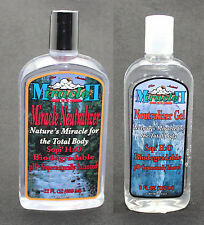 MIRACLE II 22oz NEUTRALIZER LIQUID & 8oz GEL REPAIR,TONE CLEANSE SKIN FREE SHIP