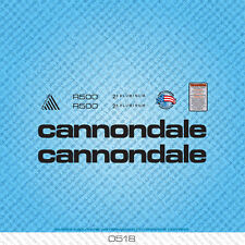Cannondale R500 Bicycle Decals - Transfers - Stickers - White - Set 0518