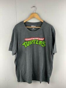 Nickelodeon Mens Grey Teenage Mutant Ninja Turtles Short Sleeve T Shirt Size 3XL