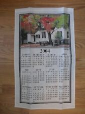 Mint 2004 COLONIAL WILLIAMSBURG CALENDAR TOWEL - HARTWELL PERRY TAVERN w/ DOWEL