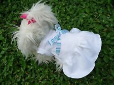 S cute White dog dress