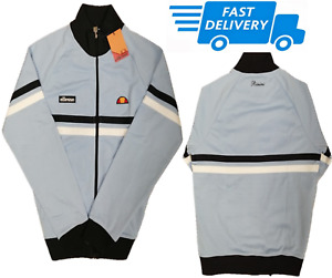 Ellesse Mens Rimini Track Top Classic Sports Jacket Full Zip Track Top Blue
