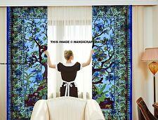 Indian Handmade Tye & Dye Ethnic Home Decor Life Of Tree Window & Door Curtains