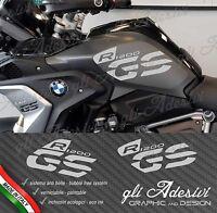 Set Adesivi Fianco Serbatoio Moto BMW R 1200 gs LC Executive 2017 GREY