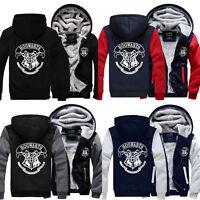 Harry Potter HOGWARTS Cosplay Zipper Jacket Unisex Sweatshirts Hoodie Coat